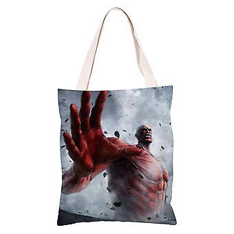 الكرتون أنيمي قماش حقيبة التسوق حمل، الهجوم على تيتان #24