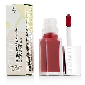 Clinique Pop Liquid Matte Lip Colour + Primer - # 02 Flame Pop - 6ml/0.2oz