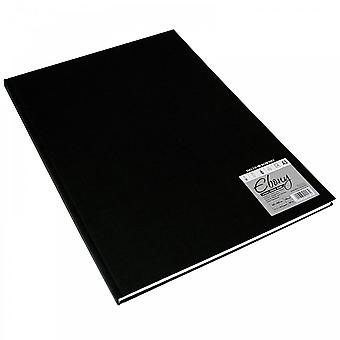 Daler Rowney Hard Back Ebony Bound Sketch Pad White Pages A4