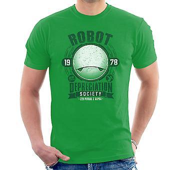 Robot Depreciation Society Hitchhikers Guide Men's T-Shirt