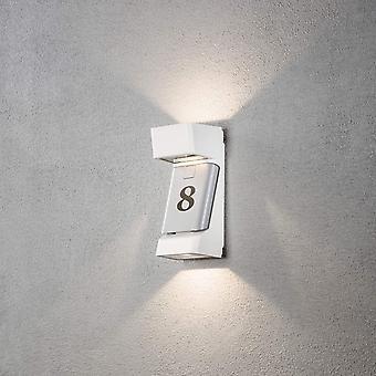 Konstsmide Ravenna hvitt LED moderne veggen Sconce