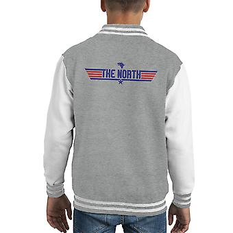 Top Gun Logo The North Game Of Thrones Kid's Varsity Jacket