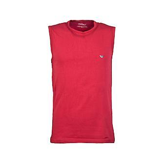 Emporio Armani Vest In Black  White  Red And Orange 1112344p728