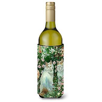 Les chats du jardin par Debbie Cook vin bouteille boisson isolateur Hugger