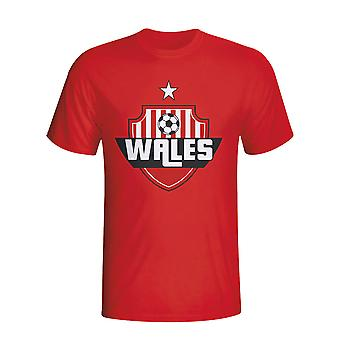 Wales land Logo T-shirt (rood) - Kids