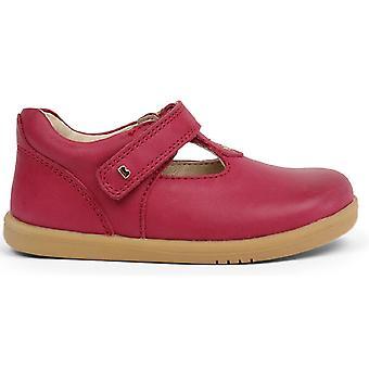 Bobux-Spaziergang Mädchen Louise T-bar Schuhe dunkelrosa