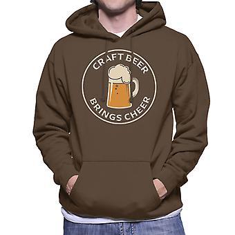 Craft Beer Brings Cheer Men's Hooded Sweatshirt
