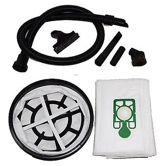 1.8 Metre Vacuum Hose 10 x Dust Bags + Filter + Tools Set Fits DAVID and EDWARD