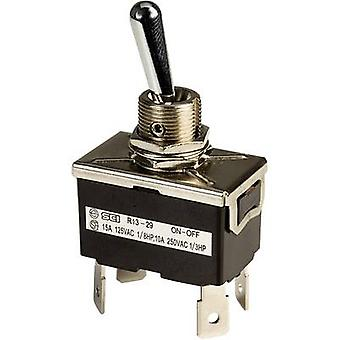 SCI R13-29F Toggle switch 250 V AC 10 A 2 x Off/On latch 1 pc(s)