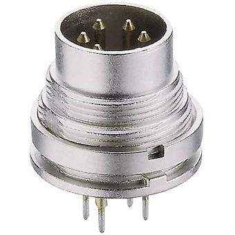 Lumberg SGR 71 DIN connector Plug, vertical mount Number of pins: 7 Silver 1 pc(s)