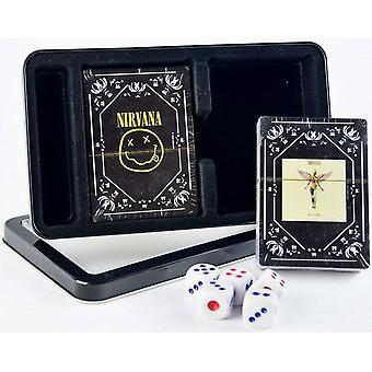 Nirvana kaksinkertainen sarja 52 pelikortin pakalla & noppaa Tin