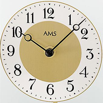 nostalgic clock of brass colours aluminium dial mineral crystal AMS
