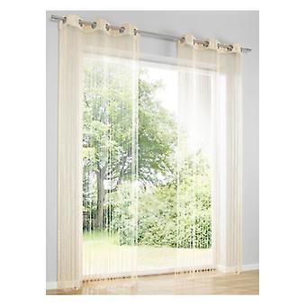 HEINE Fadenstore cortina quarto divisor inseto para segurança doméstica areia lugs H/W 245 x 145 cm