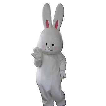 mascot SPOTSOUND of white, soft and cute Bunny with big ears