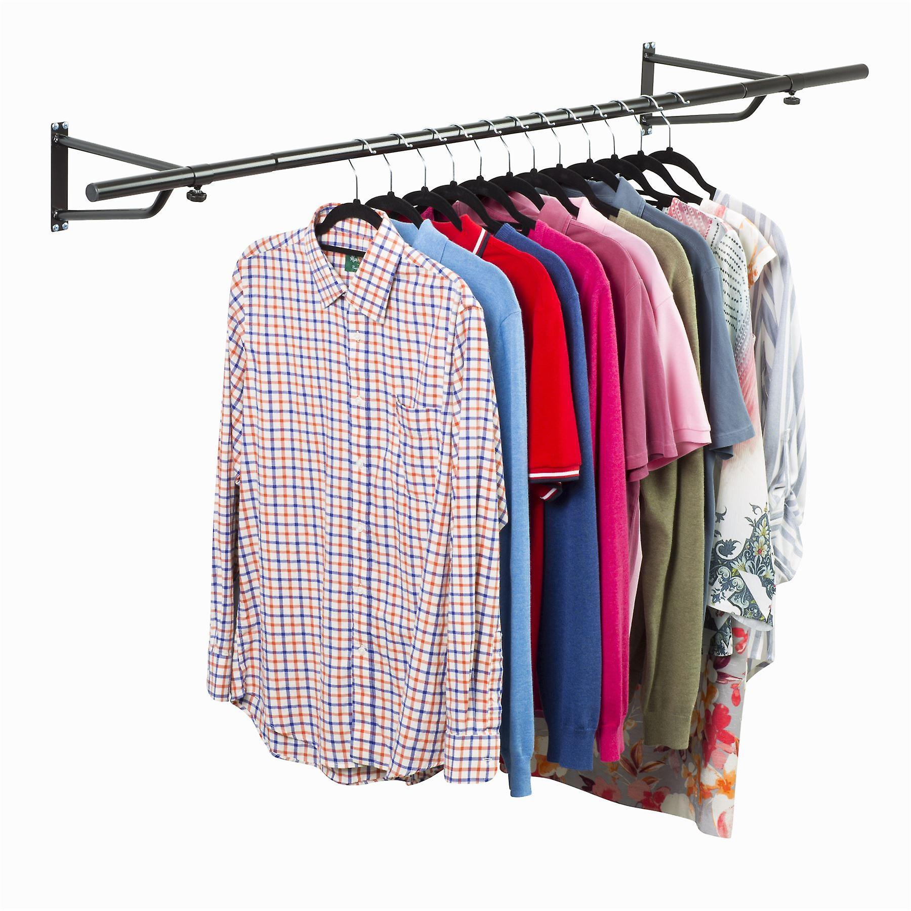 4ft Garment Rail In Black Powder Coating