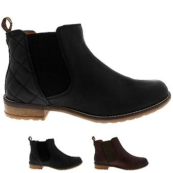 Womens Barbour Abigail Leather Winter Casual Low Heel Smart Ankle Boots