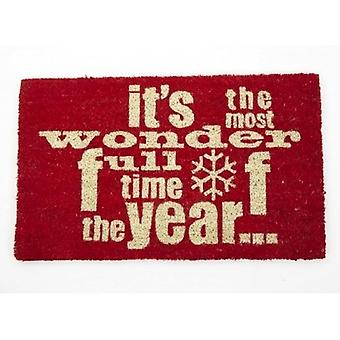 Heaven Sends Wonderful Time of The Year Christmas Doormat