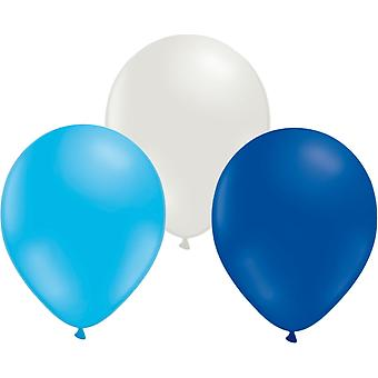 Balloons mix 24-pack Light blue, White and Blue | 30 cm (12 inches)