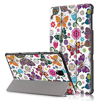 Slim Fit Cover für Samsung Galaxy Tab (A) 10,5 (2018)-Schmetterlingsblüten