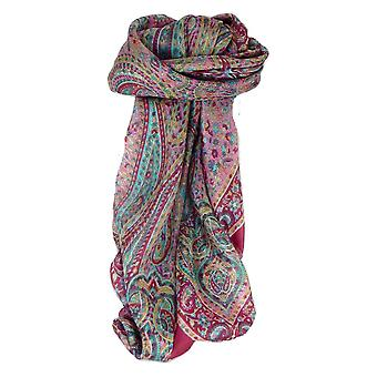 Mulberry Silk Traditional Square Scarf Zorn Carnation by Pashmina & Silk