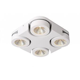 シーリング スポット ライト Lucide Mitrax LED モダンなスクエア アルミ ホワイト