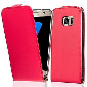 Cadorabo tapauksessa Samsung Galaxy S7 tapauksessa tapauksessa kansi - Flip puhelimen tapauksessa sileä faux nahka - Case Cover suojakotelo tapauksessa kirjan taitto tyyli