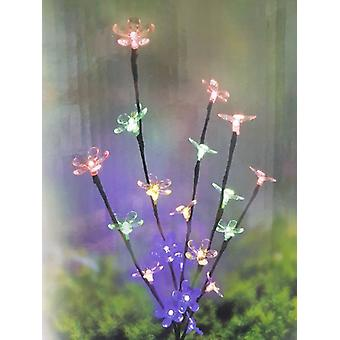 20 Led Solar Flower String Multi Colour Light Garden Decoration