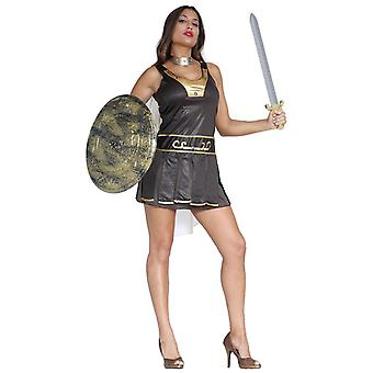 Womens romano gladiatore Fancy Dress Costume