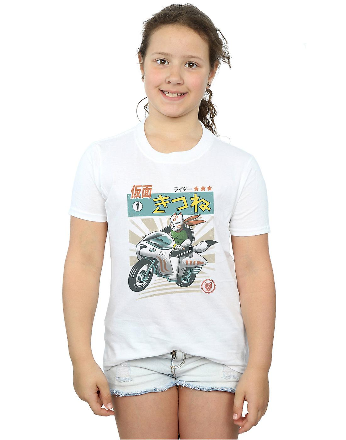 Vincent Trinidad Girls Kitsune Kamen Rider T-Shirt