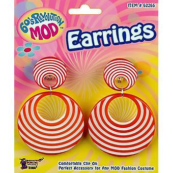 Mod Orange Swirl Earrings