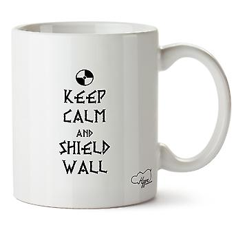 Hippowarehouse сохранить спокойствие и щит стены печатные кружки чашки керамические 10oz