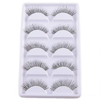 10pcs luxueux longs faux cils-Ida