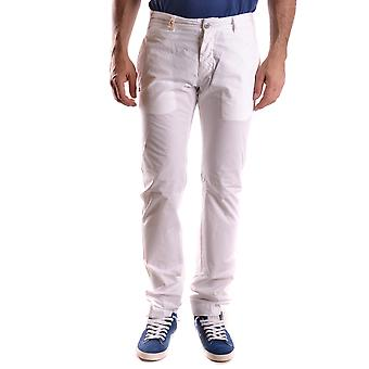 Daniele Alessandrini Ezbc107173 Men's White Cotton Pants