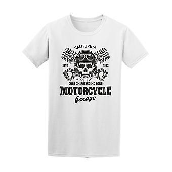 دراجة نارية للرجال كراج الجمجمة المحملة-الصورة عن طريق Shutterstock