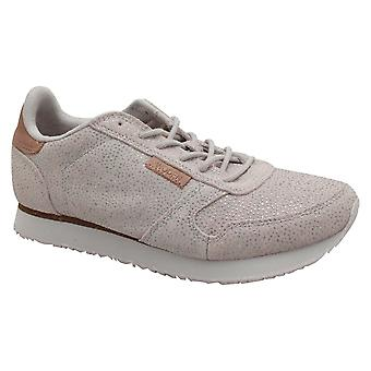 Woden Shimmer Leather Lace Up Trainers