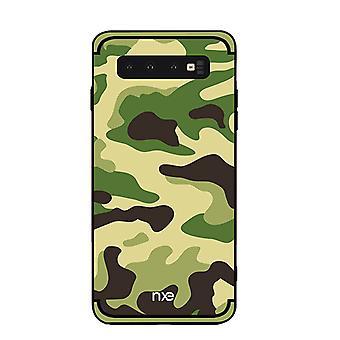 NXE Samsung Galaxy S10 + TPU Shell-camouflage-Light Green