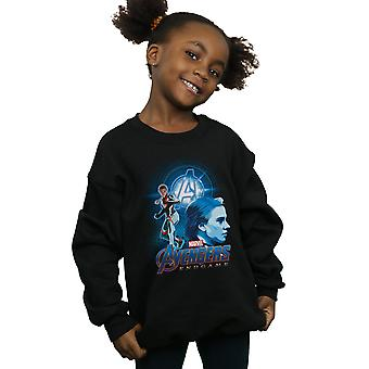 Marvel Mädchen Avengers Endspiel schwarzen Witwe Team Anzug Sweatshirt