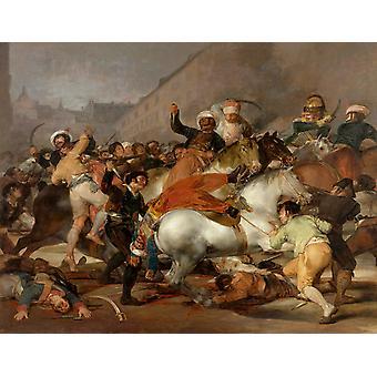 الثاني من مايو 1808.1814، فرانسيسكو غويا، 50x40cm