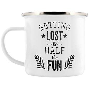 Grindstore se perdre est la moitié de la tasse d'émail amusant