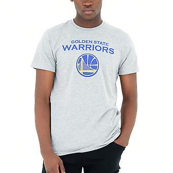 New Era Basic Shirt-NBA Golden State Warriors Grey