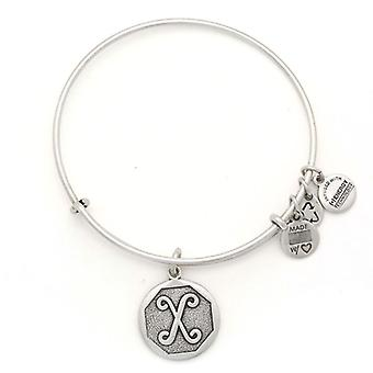 Alex and Ani Initial X Silver Bangle A13EB14XS