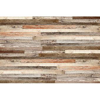Tapete Wandbild Holzwand