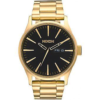 Nixon Sentry Watch A356-510-Men ' s dor aço Watch