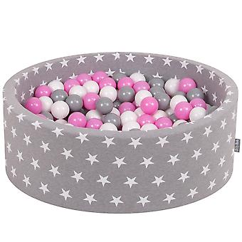 Kiddymoon Baby Ballpit With Balls 7Cm / 2.75In Certified Made In EU, Stars