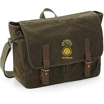 Royal Northumberland Fusiliers Veteran - Licensed British Army Embroidered Waxed Canvas Messenger Bag