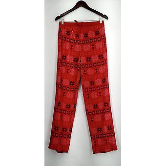 Carole Hochman Lounge Pants Tall Waffle Fleece Novelty Red A294078