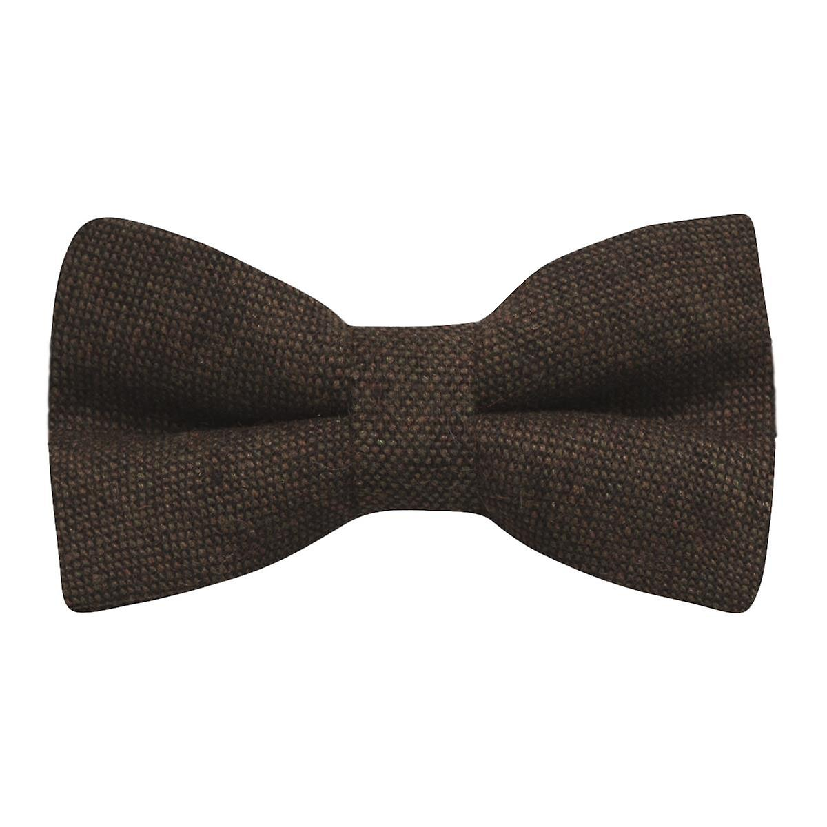Highland Weave Cocoa Brown Bow Tie