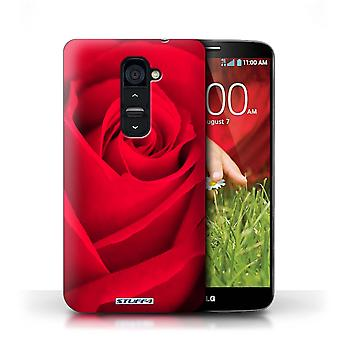 STUFF4 Case/Cover for LG G2/Red/Rose