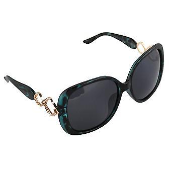 Sunglasses oval Polarizing Glass green FREE BrillenkokerS325_1