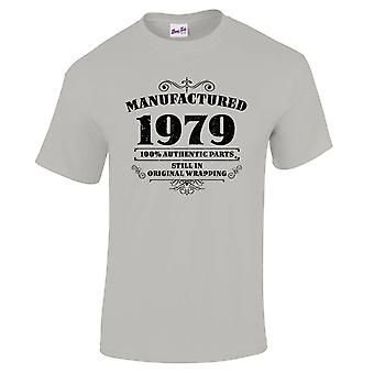 Men's 40th Birthday T-Shirt Manufactured 1979 Novelty Gifts For Him